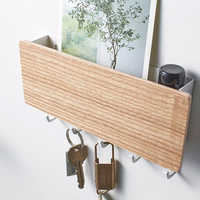 Plastic Key Hanger Holder For Keys Wall Door Storage Organizer Home Decor Hooks Letter Rack Multifunctional Storage Box
