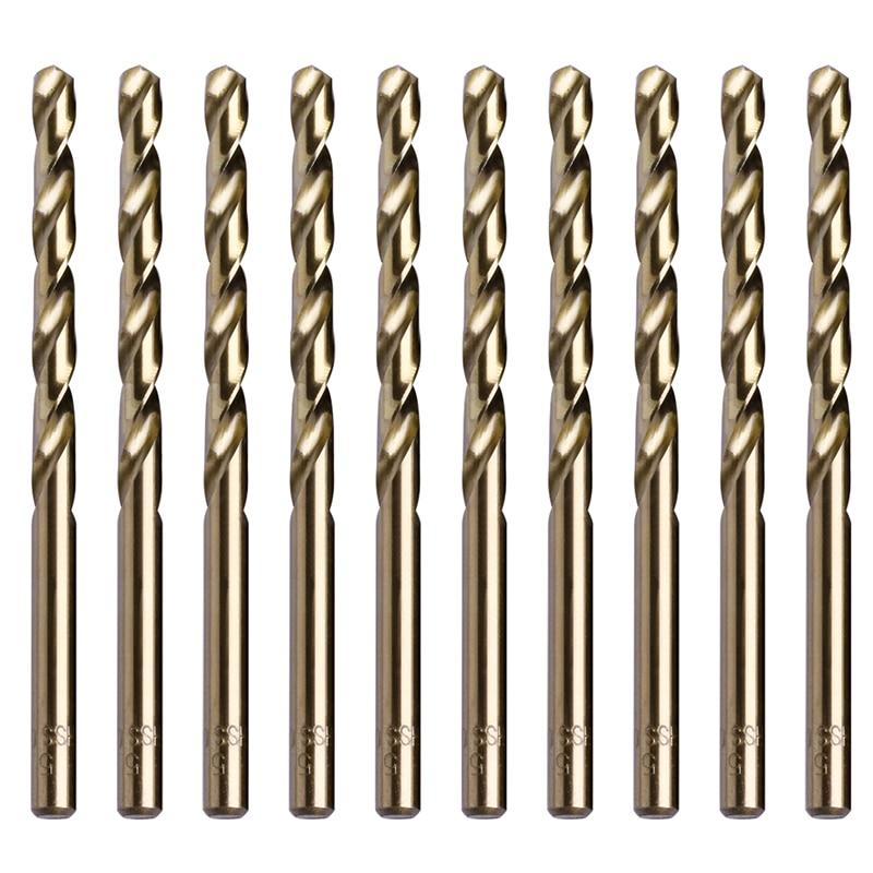 10Pcs 5mm M35 Triangle Shank HSS-Co Cobalt Twist Drill Spiral Drill Bit Puncher Drill Bits 10 x hss 5mm shank 2mm di tip lathe mill electrical center drill bits