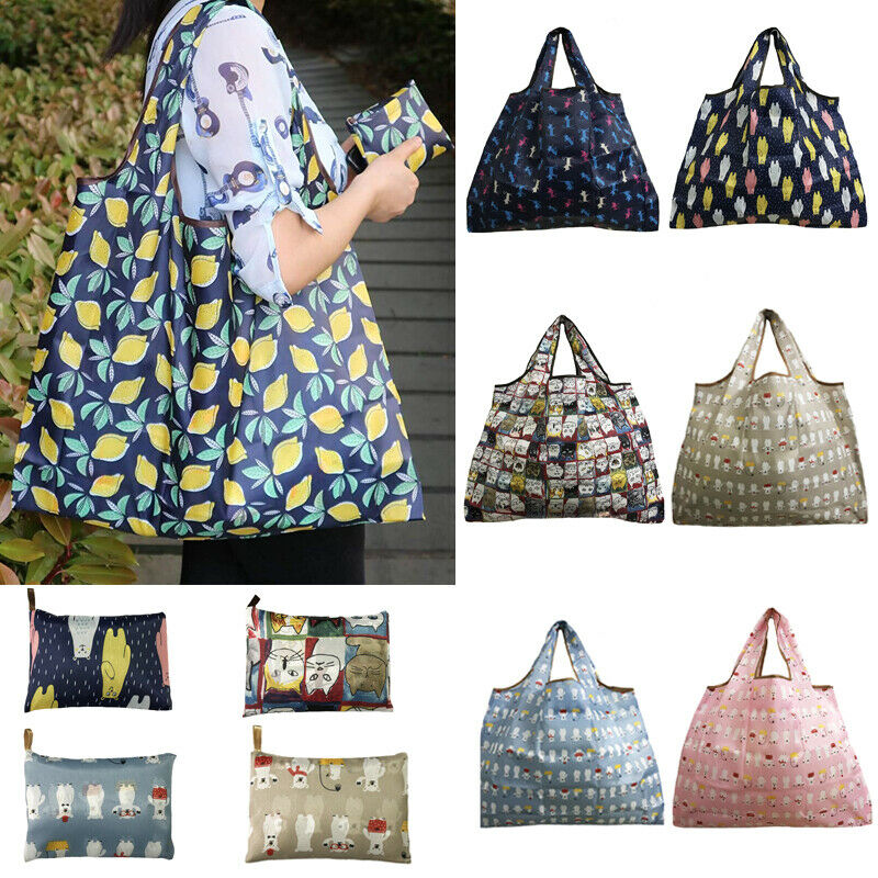 Luggage & Bags Women Fashion Waterproof Shopping Holiday Factional Colorful Bag Reusable Handbags Foldable Tote Durable Washable S Bags Shopping Bags