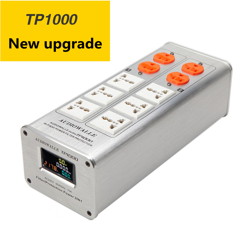 2018/ TP1000 New High-End Audio Noise Filter, 3000W AC Power Conditioner, Power Filter, Power Purifier LED voltage display