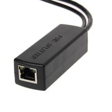 Adaptador ethernet poe divisor para câmera ip, adaptador de 10/100m pro/af sobre ethernet poe para câmera ip 80x27x2 2mm/por exemplo,