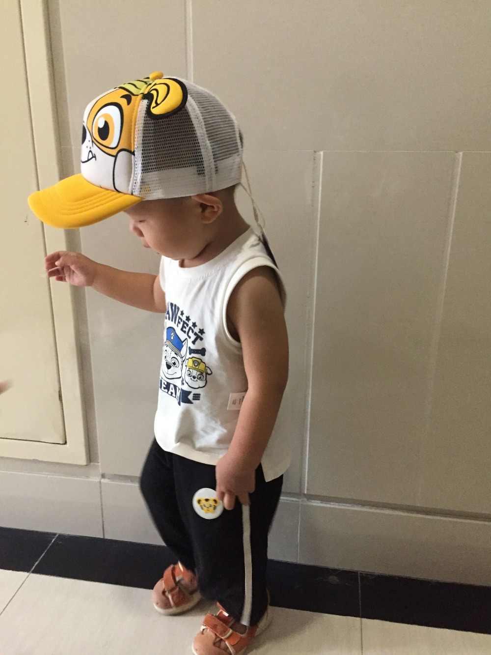 best sneakers 86d4e d5b86 ... 2018 Genuine PAW Patrol Cotton Cute Children s summer Hats Caps  Headgear Chapeau Puppy Print Party Kids