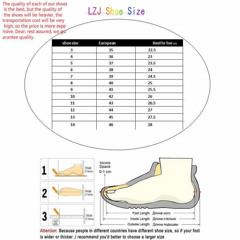 LZJ NOVAS Mulheres Martin Botas de Inverno Botas de Outono Clássico Zipper Ankle Boots Neve Do Inverno Camurça Pele Morno Mulheres Sapatos de Pelúcia 35-42