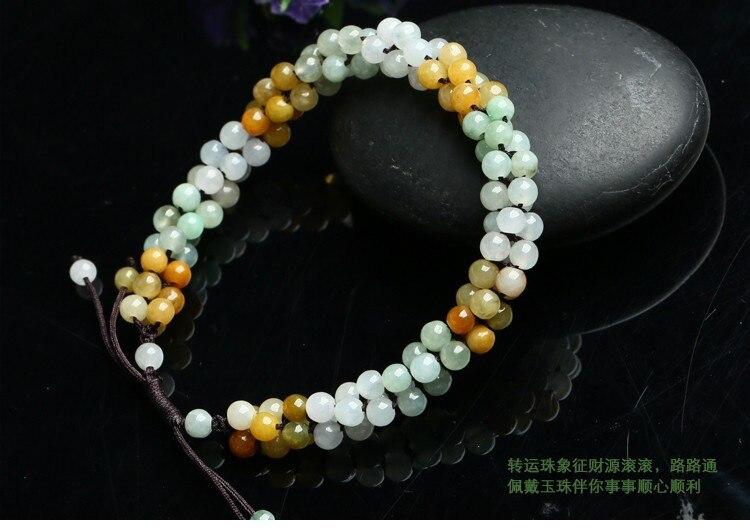 Burma yu bracelet genuine home with yu bracelet, hand woven ladies Specials - 6