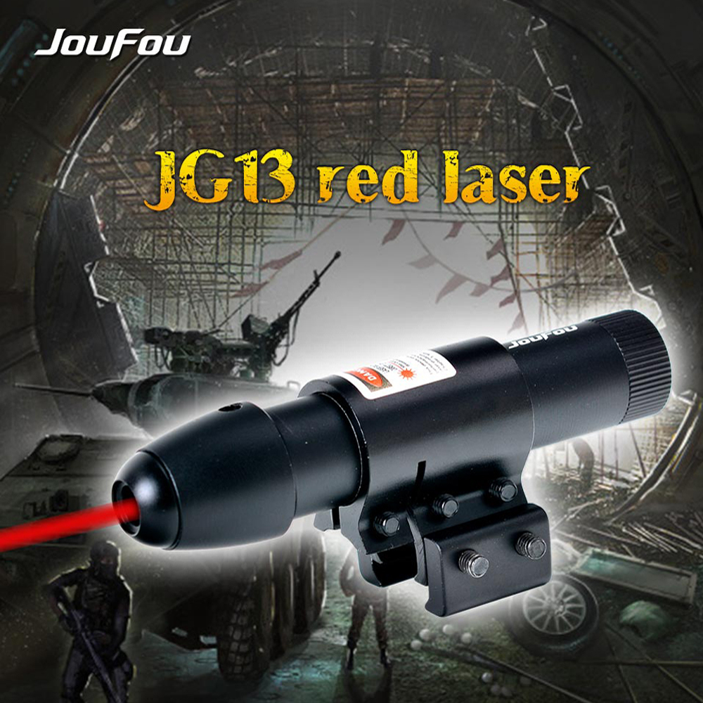 JouFou JG13 Tactical Red Dot Laser Sight <font><b>11mm</b></font> / 20mm Rail Mount Red Green Laser Sight for Hunting Airsoft Riflescope