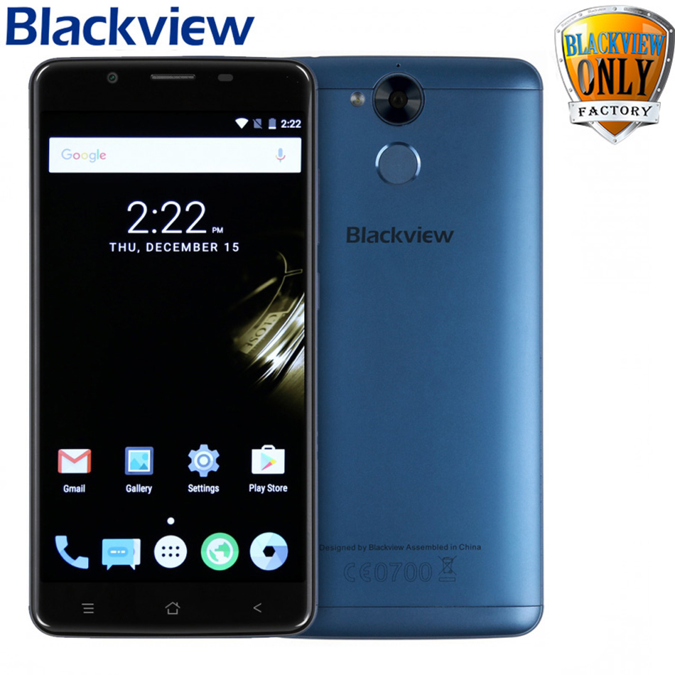 Blackview P2 Lite smartphone 3GB RAM 32GB ROM Android 7.0 Cell Phone MT6753 Octa Core 5.5 inch FHD 6000mAh 13MP+8MP Mobile Phone