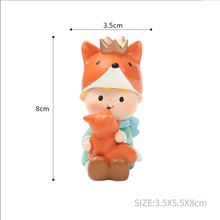 Le Petit prince fox fairytale resin Artificial Cute Miniature Figurines Dollhouse cabinet Home Decoration accessories maison
