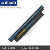 SKOWER 11.1V 65WH New MR90Y Laptop Battery For DELL Inspiron 3421 3721 5421 5521 5721 3521 XCMRD 68DTP G35K4 6Cells
