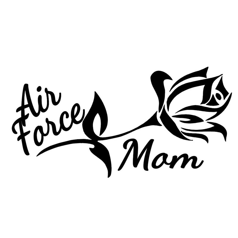 Download 20x10.1CM AIR FORCE MOM FLOWER Beautiful Car styling Black ...