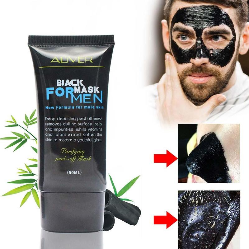 50ml Professional Deep Cleansing Moisturizer Face Mask for Men Women Blackhead Remover Peel Off Face Black Mask Men Beauty image