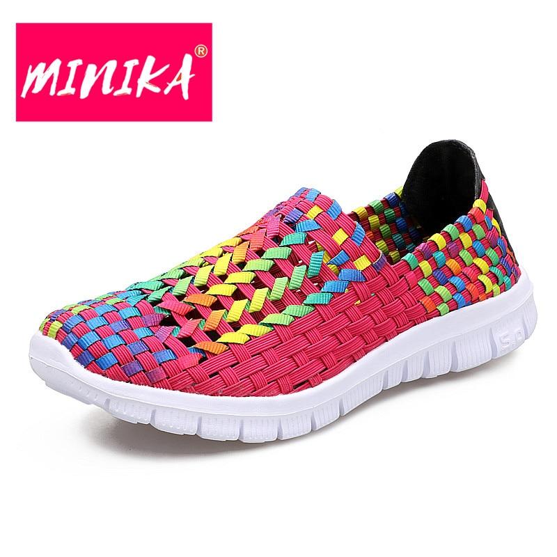MINIKA Colorful Youth Trend Señora Zapatos Boca baja Mujeres punta - Zapatos de mujer