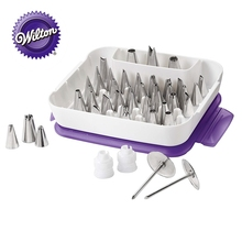 Wilton Master Decorating Piping Tip Set - Cake Supplies with 55 Piece Icing Tips, 2 Coupler, Flower Nail