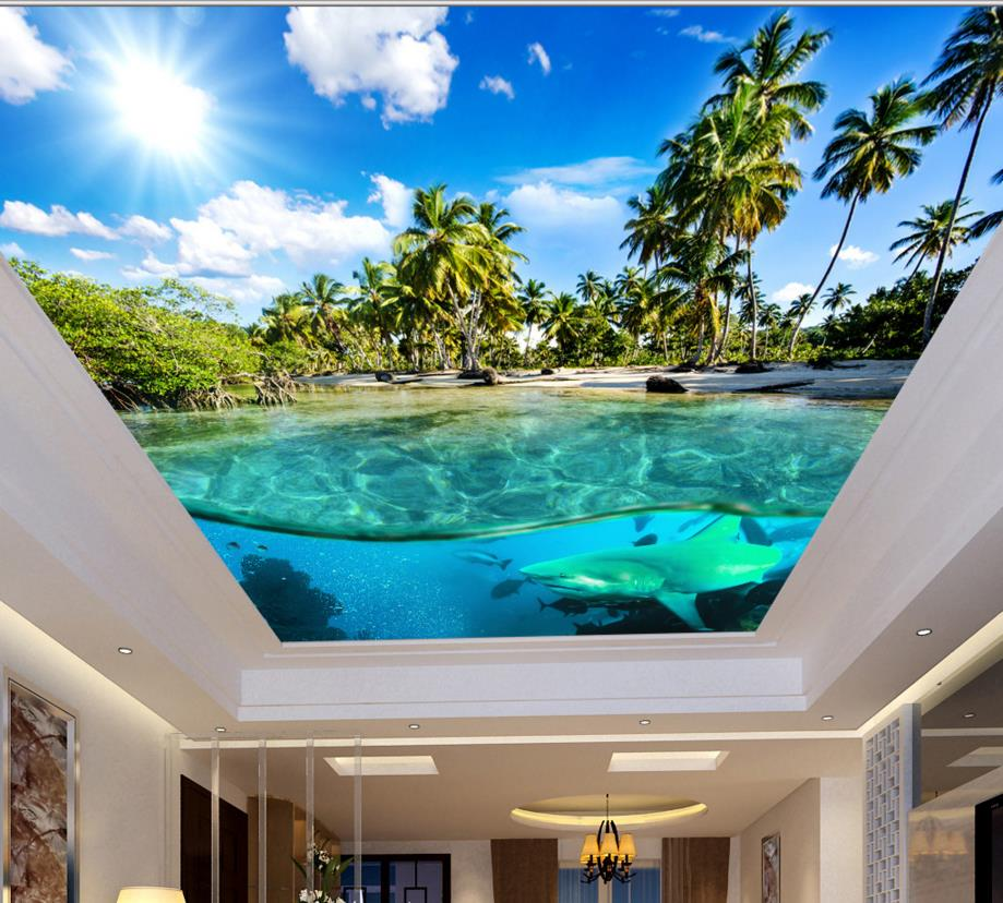 Aliexpress Com Buy Customize 3d Ceiling Underwater World