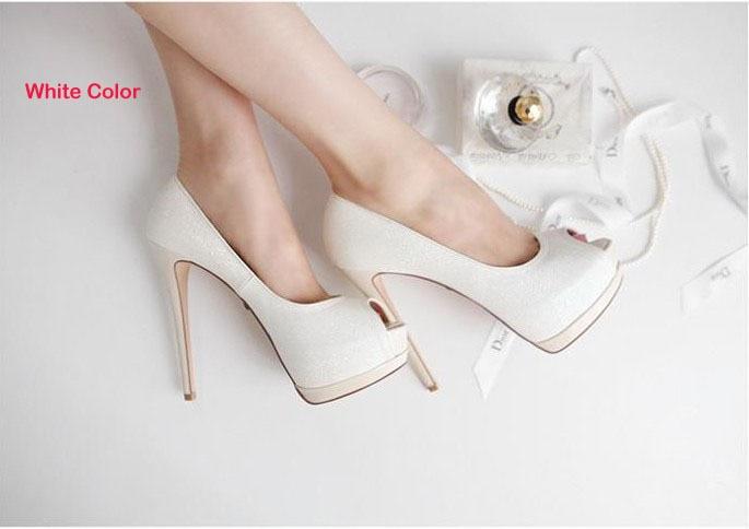 ФОТО 2016 Free Shipping High Heels Peep Toe Sandals Woman Dress Shoes White Wedding Bridal Dress Shoes Nightclub Evening Shoes Super