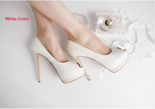 2016 Free Shipping High Heels Peep Toe Sandals Woman Dress Shoes White Wedding Bridal Dress Shoes Nightclub Evening Shoes Super