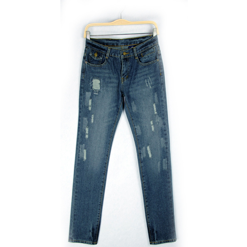 Jeans woman Summer Casual Loose Blue  Ripped Hole jeans Bleached Scratched Pockets Denim boyfriend jeans for women Straight denim overalls male suspenders front pockets men s ripped jeans casual hole blue bib jeans boyfriend jeans jumpsuit or04