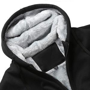 Image 4 - אנימה פסיכו לעבור נים חולצות גברים של חורף חם צמר בתוספת גודל נים מעיל מעיילים מקרית Streetwear קרדיגן מעיל