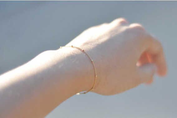 SL 026 2019 горячая распродажа 1 шт простой серебряный/Золотой изысканный медный браслет из бисера женский/женский браслет модная цепочка подарок