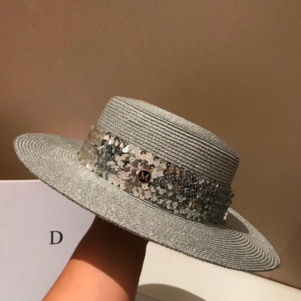 chapeau M Léger tricot d'or et d'argent paillettes