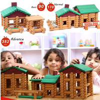 2017 Top Brand New House Children Wooden DIY Wooden Assemblage Building Block Educational Baby Toy Forest Log Set High Quality