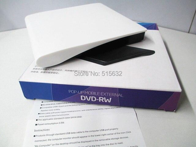 2015 NEW 12.7mm USB 3.0 POP-UP MOBILE  External Drive Enclosure Case ODD/HDD DVD-RW tray load Case USB external case Enclosure
