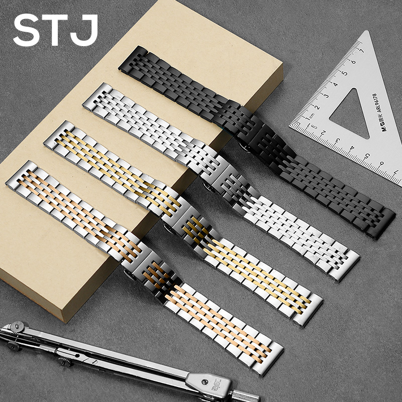 STJ Watchband 16mm 18mm 20mm 22mm Stainless Steel Strap for <font><b>Samsung</b></font> Gear Sport S2 S3 Galaxy 42mm <font><b>46mm</b></font> Watch Band Metal Wristband image