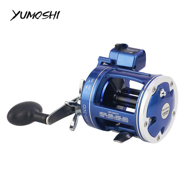 Special Offers Tackle for fishing Carp Fishing Reel High Speed Reel Fishing With Electric Depth Count Multiplier Reading Bearings YUMOSHI 30D