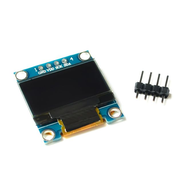 10pcs White Blue color 128X64 OLED LCD LED Display Module For Arduino 0.96 I2C IIC Serial new original with CaseI