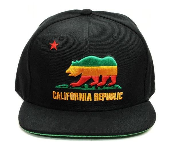 b37b2c2337a2f California Republic Collection snapback hat black green yellow cap  wholesale cheap free shipping