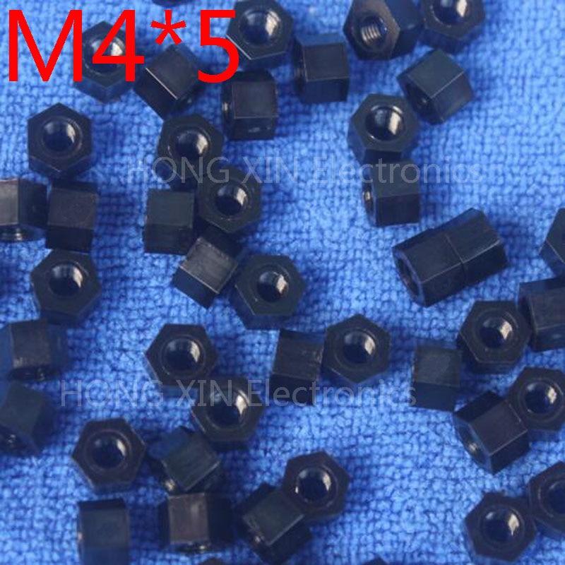 M4 * 5 черный 1 шт. нейлон противостояние Spacer Стандартный M4 Пластик женщина-женщина 5 мм противостояние ремонт аксессуар высокое качество