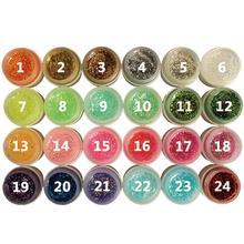 Popular 8ml Glitter Powder Glue Nail Polish Soak Off UV Lamp Gel Long-lasting Art Decoration Salon Tool 24 colors Fast Delivery