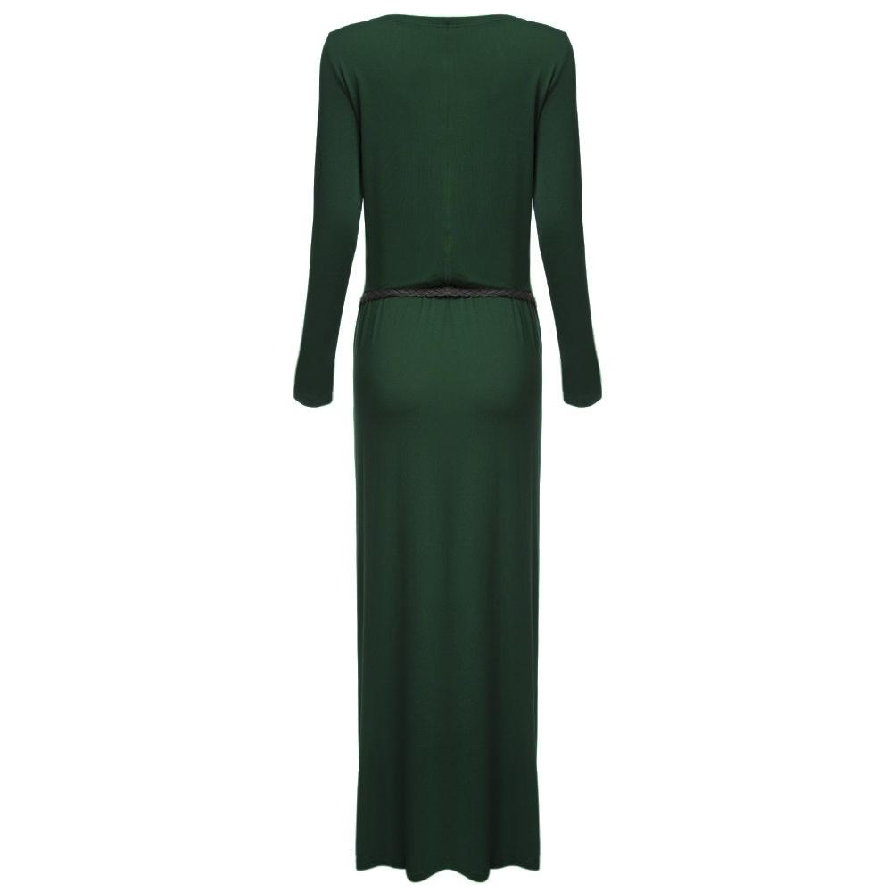 VESTLINDA Vintage Vestidos Longo Jurken Women Maxi Dress Full Sleeve Casual Dress Autumn A Line Solid Ropa Mujer Long Dress 3