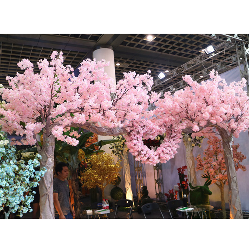 Home Decor 160 heads Natural vertical silk cherry blossom for ...