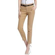 2018 カプリパンツ女性の事務服足首の長さのズボンプラスサイズブラックファムパンタロン