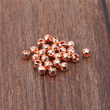 Maximumcatch 25 Pieces 2.5mm/3.0mm/3.5mm Tungsten Diamond Slotted Beads Gold/Bronze Fly Tying Beads