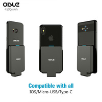 Oisle スリム電源銀行バッテリ充電器ケースポータブル充電器外部バッテリーパックサムスン華為 xiaomi iphone 11 x xs 7 8
