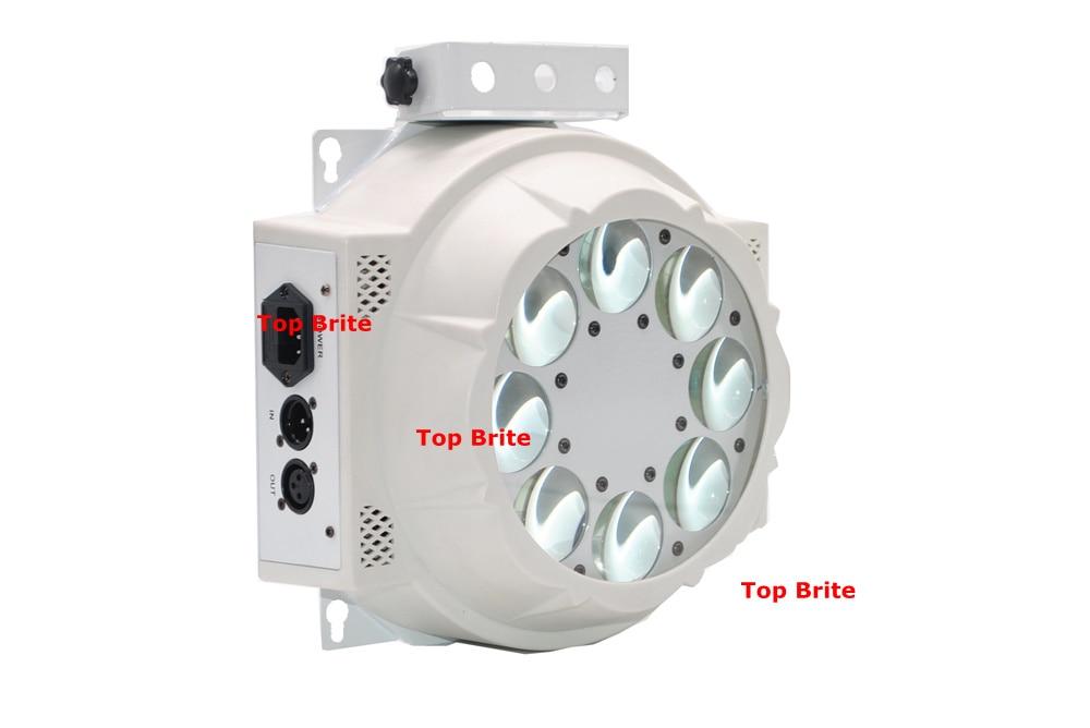 2XLot 8 * 3W Cree Led lampe 8 Øjne Mønster Lys RGBW 4 Farve Rotere - Kommerciel belysning - Foto 4