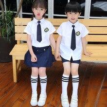 цена на Children's Uniforms  New Performance Costumes Pupils School Uniform College British Wind Boys Chorus Clothes Kindergarten