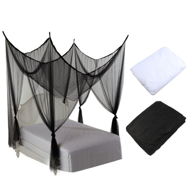 White Mosquito Net 4 Post Poster Bed Canopy Four Corner Mosquito Insect Bug Net Mesh Full  sc 1 st  AliExpress.com & White Mosquito Net 4 Post Poster Bed Canopy Four Corner Mosquito ...