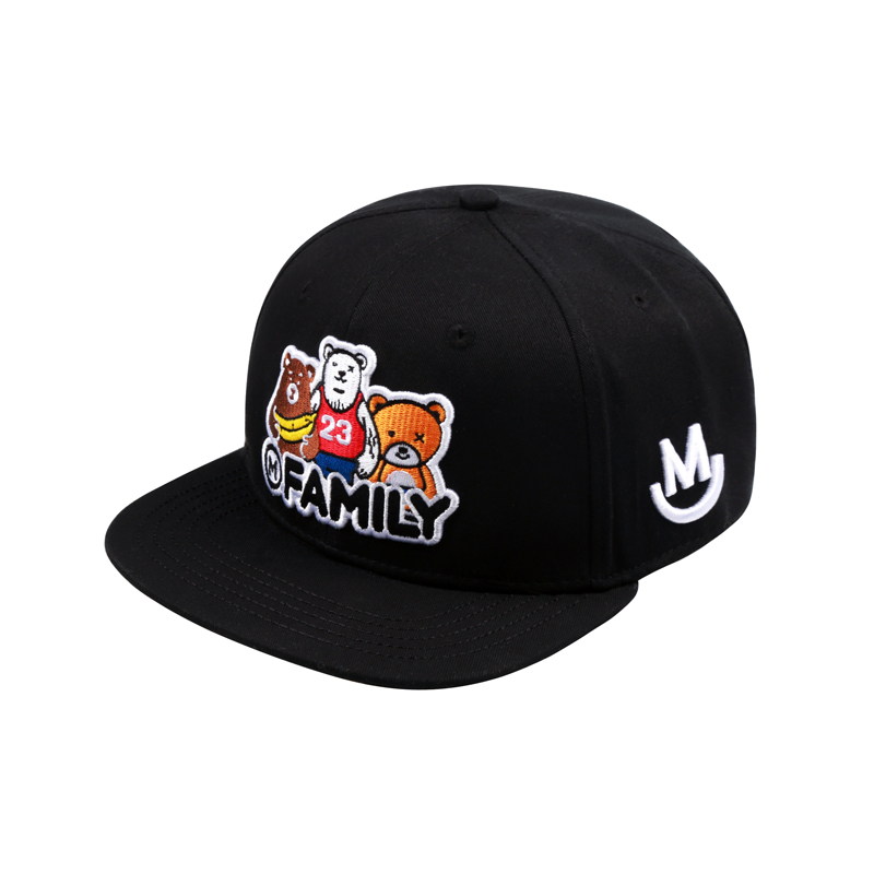 4806a6a86 2018 Unisex Top Quality Cute Bears Embroidery Baseball Cap Snapback ...