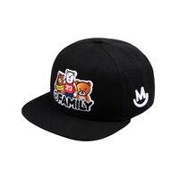 2018 Unisex Top Quality Cute Bears Embroidery Baseball Cap Snapback Hip Hop MFAMILY Caps Gay Bear Hat Circumference: 54 63 cm