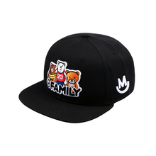 2018 Unisex Top Quality Cute Bears Embroidery Baseball Cap Snapback Hip Hop MFAMILY Caps Gay Bear Hat Circumference: 54-63 cm