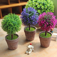 Caioffer Home Decoration Accessories Artificial Potted Flowers Cheap Mini Bonsai Plants Weeding Easter Garden Decorativo CXD04