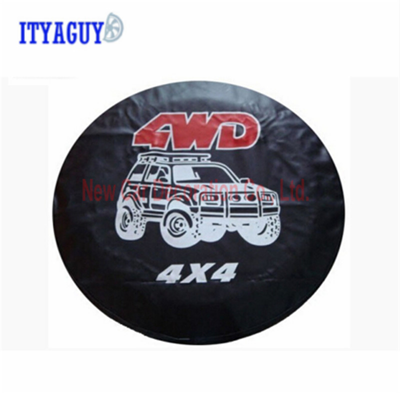 Car Accessories 4WD 4X4 series automobile spare tire covers 14 15 16 17 inches spare tire cover For universal CY-63 pvc car spare 15 tire tyre cover black yellow white