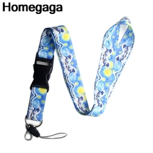 Homegaga Starry sky Kanagawa wave id strap movie neck lanyards keys glasses holder keychain phones cameras webbing ribbon D2128