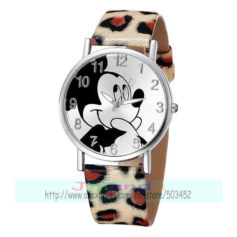 100 unids/lote 8131 funda de plata reloj de cuero encantador ratón de dibujos animados Sin logo reloj casual para estudiante wrap reloj de pulsera de cuarzo al por mayor-in Relojes de mujer from Relojes de pulsera    1