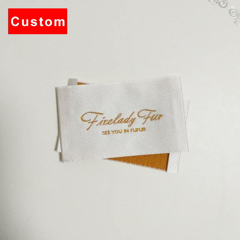 high quality custom clothing labels brand crochet machine woven labels personalized fashion woven fabric labels