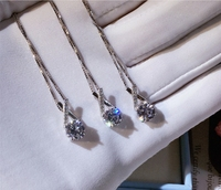 Top Quality New Fashion CZ Zircon Stones X Shape 925 Sterling Silver Necklace Design Women Wedding Jewelry Wholesale