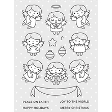 Angel Friends Transparent Clear Silicone Stamp/Seal for DIY scrapbooking/photo album Decorative clear stamp sheets DZ28