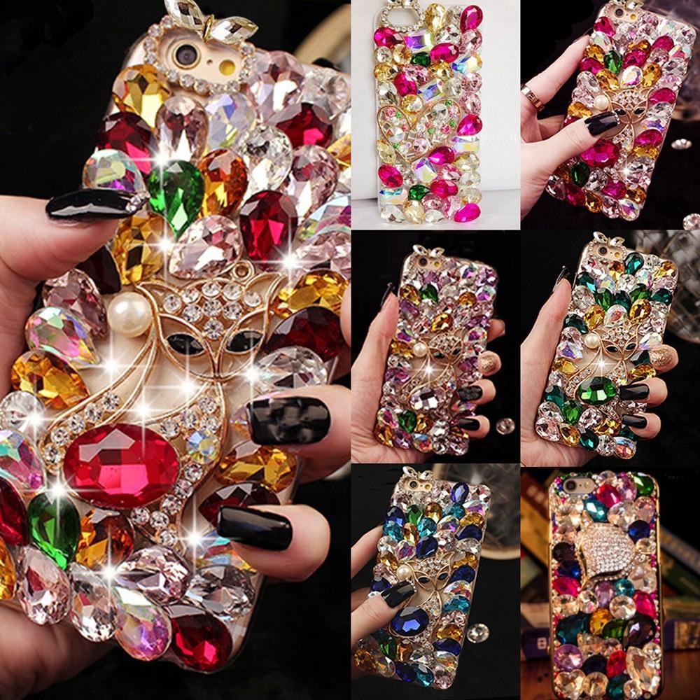 Der GüNstigste Preis Für Iphone 7 Plus Mode Große Bling Steine Kristall Diamanten Strass 3d Steine Telefon Fall, Schöne Tpu + Pc Acryl Shell Starke Verpackung